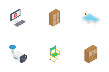 Interior And Buildings Icon Pack