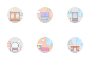 Interior Design And Furniture Icon Pack