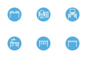 Interior & Furniture Glyph Icon Pack