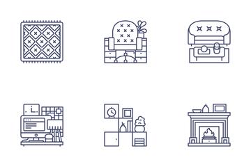 Interior & Home Decor Icon Pack