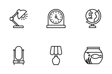 Interior Home Decoration Icon Pack