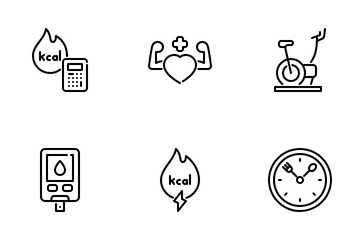 Intermittent Fasting Icon Pack