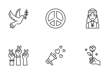 International Day Of Peace Icon Pack