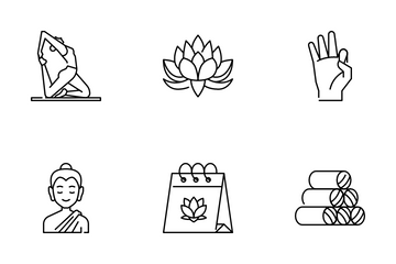 International Day Of Yoga Icon Pack