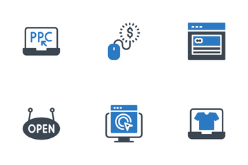 Internet And Digital  Marketing Icon Pack