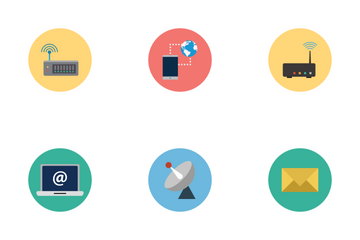 Internet Flat Icons Icon Pack