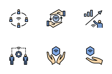 Internet Of Things Filled Outine Icon Pack