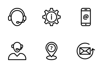 Internet Security And Support Icon Pack