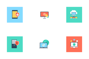 Internet Security And Technology Icon Pack
