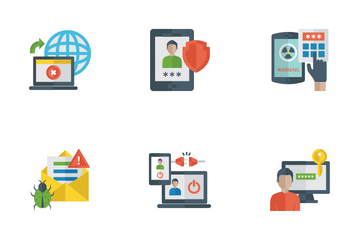 Internet Security Flat Icons Icon Pack