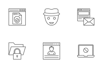 Internet Security Line  Icon Pack