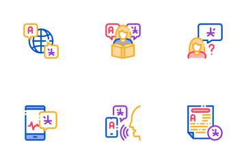 Interpreter Translator Icon Pack