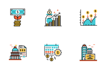 Investment Flat Outline - Asset Allocation Icon Pack