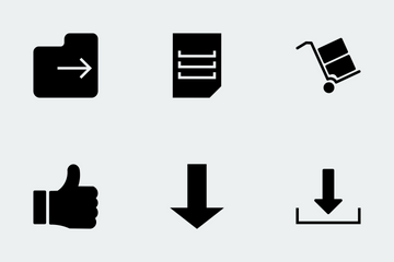 IOS And Android Glyphs Icon Pack