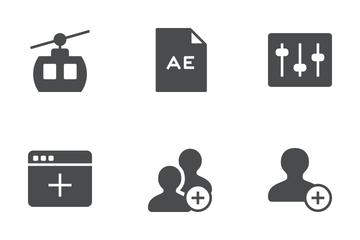 Ios Edge Glyph Icon Pack