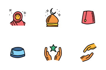 Islam Doodles Icon Pack