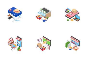 Isometric Concepts Icon Pack