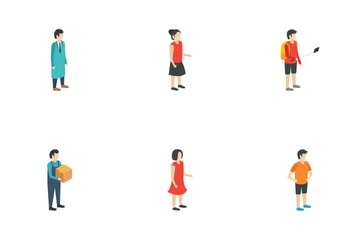 Isometric People Icon Pack