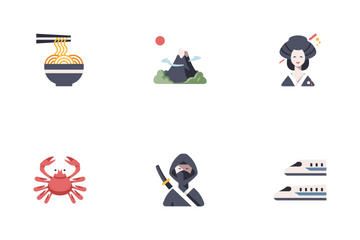 Japan Travel Icon Pack