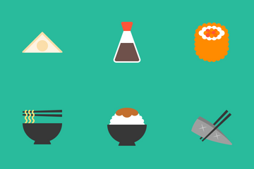 Japanese Food Icon Pack