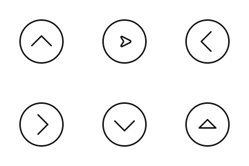 Jellycons - Outline - Arrows Vol.5 Icon Pack