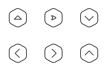Jellycons - Outline - Arrows Vol.7 Icon Pack
