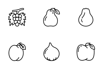Jellycons - Outline - Fruits Icon Pack