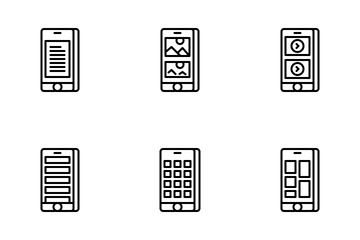 Jellycons - Outline - UX Mobile Vol.1 Icon Pack