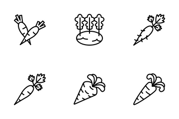 Jellycons - Outline - Vegetables Icon Pack