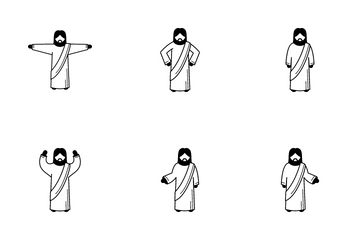 Jesus Christ Posture Icon Pack