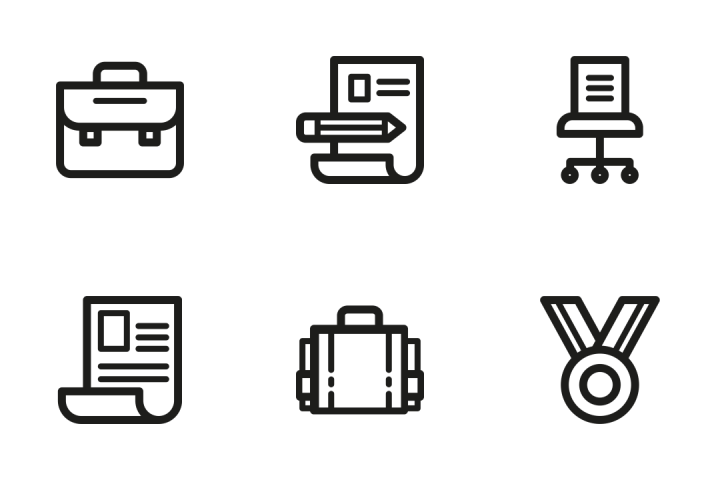 premium job  u0026 resume icon pack download in svg  png  eps  ai  ico  u0026 icns formats