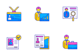 Job Seeker And Resume Icon Pack