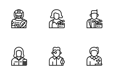 Jobs And Occupations Icon Pack