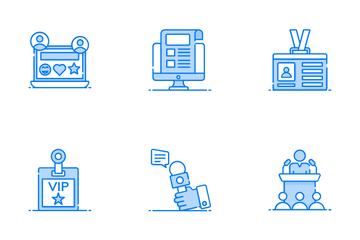Journalism And Mass Media Icon Pack