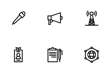 Journalist Icon Pack