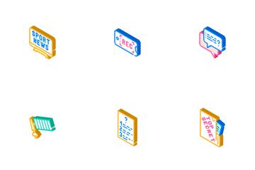 Journalist Accessories Icon Pack