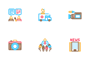 Journalist Reporter Icon Pack