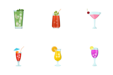 Juice Glasses Icon Pack