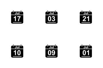 July Calendar 2017 3 - Glyph Icon Pack