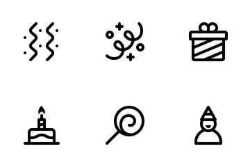 Jumpicon - Birthday (Line) Icon Pack