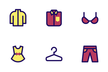 Jumpicon - Clothing (Filled Line) Icon Pack