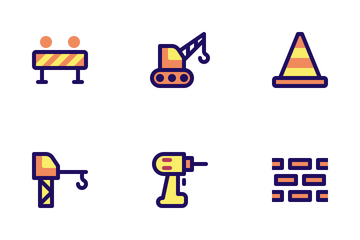 Jumpicon - Construction (Filled Line) Icon Pack