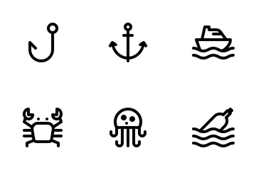 Jumpicon - Maritime (Line) Icon Pack