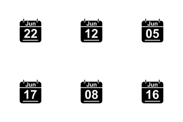 June Calendar 2017 3 - Glyph Icon Pack