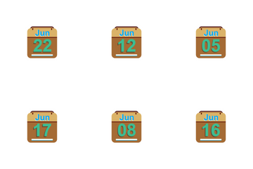 June Calendar 2017 - 4- Flat Icon Pack
