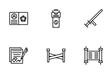 Jurisprudence And Law Icon Pack