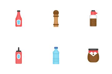 Ketchup And Seasoning Icon Pack
