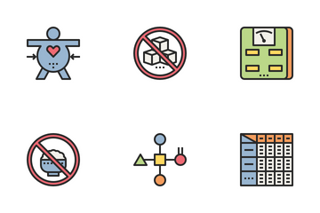 Ketogenic Diet Color Icon Pack