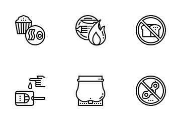 Ketogenic Diet Outine Icon Pack