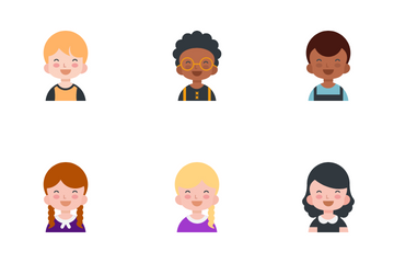 Kids Avatar Icon Pack